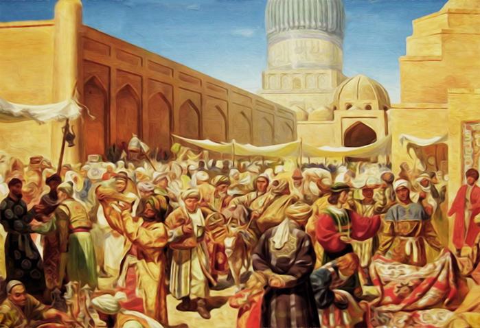городской базар в Средней Азии