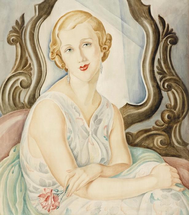 ХУДОЖНИК-ИЛЛЮСТРАТОР ГЕРДА ВЕГЕНЕР / GERDA WEGENER (ДАНИЯ, 1885-1940)