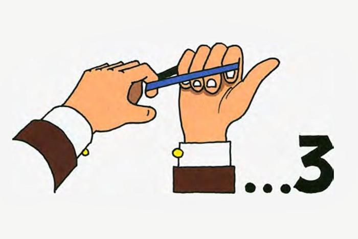 Забавный фокус «Прыгающая резинка» из иллюзий с «волшебными» предметами