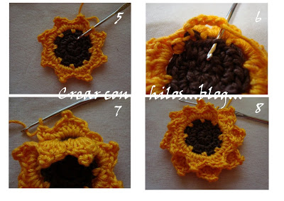 Бабушкин квадрат с подсолнухом. Мотив крючком (2) (400x283, 117Kb)