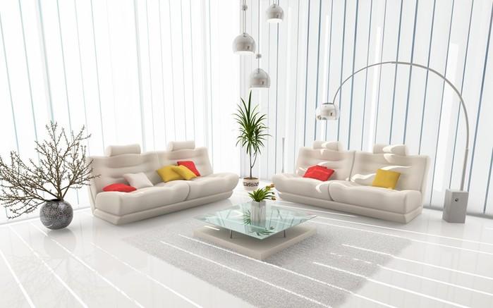Создаем интерьер комнаты в белом цвете