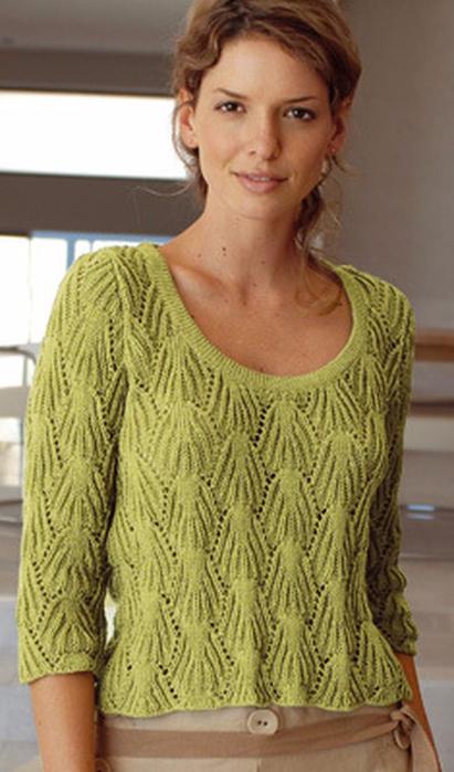 Zelenyj-pulover-s-relefnym-uzorom (411x700, 273Kb)