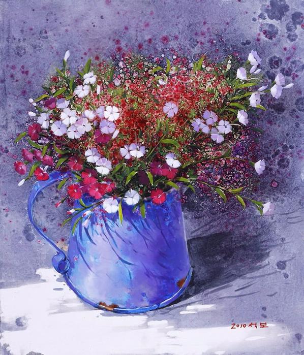 Художник из Кореи Yi Seong-bu12а (598x700, 532Kb)
