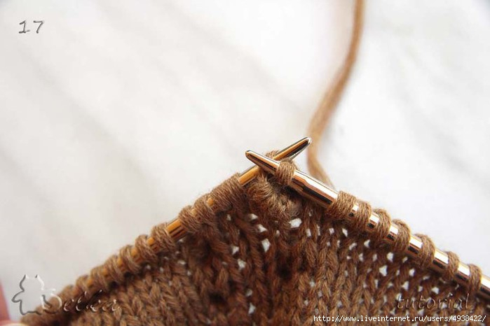 俄网的棒针基础教程 28:如何编织织物背面不会产生窟窿的凸珠方法 - maomao - 我随心动