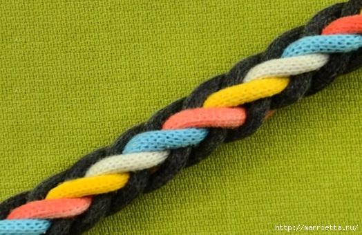 Плетение красивого шнура для создания браслета (524x340, 151Kb)
