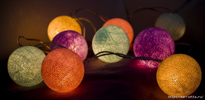 Новогодний шар из ниток своими руками (3) (700x343, 170Kb)