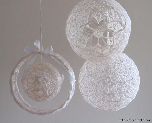 Новогодний шар из ниток своими руками (11) (576x467, 146Kb)