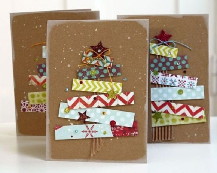 Идеи открыток на новый год своими руками