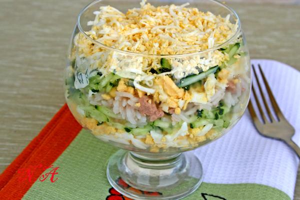 Салат из свиной печени и рисом рецепт с