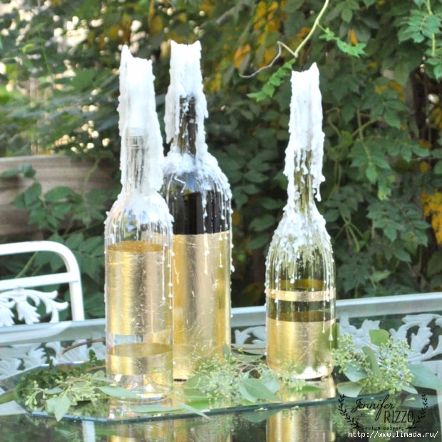 Drippy-candles-in-gold-leaf-wine-bottles-sq-620x620 (620x620, 258Kb)