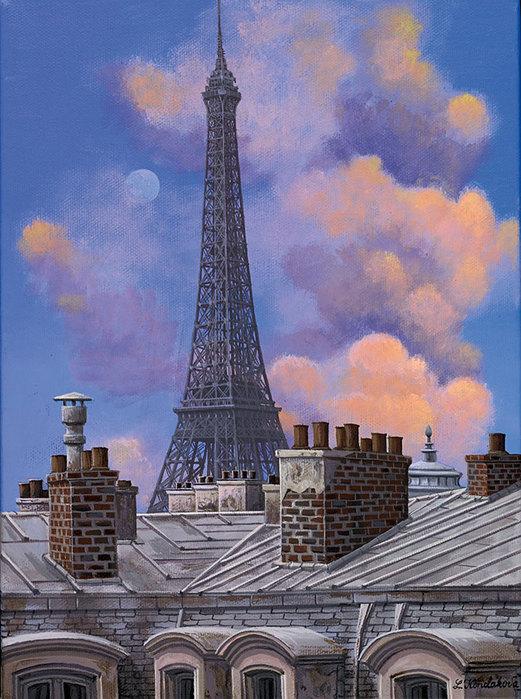 rooftops_with_eiffel_tower_liudmila_kondakova_martin_lawrence_galleries (521x700, 121Kb)