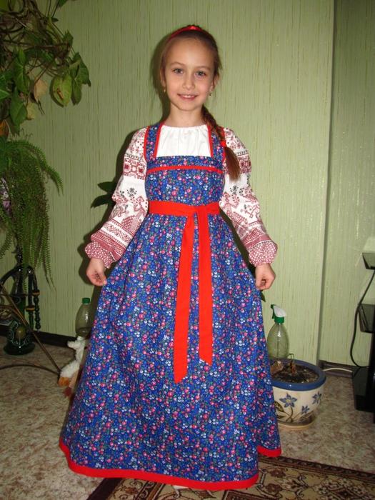 Сарафан народный сшить для девочки