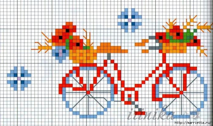 Вышиваем велосипед. Идеи со схемами (11) (700x415, 283Kb)