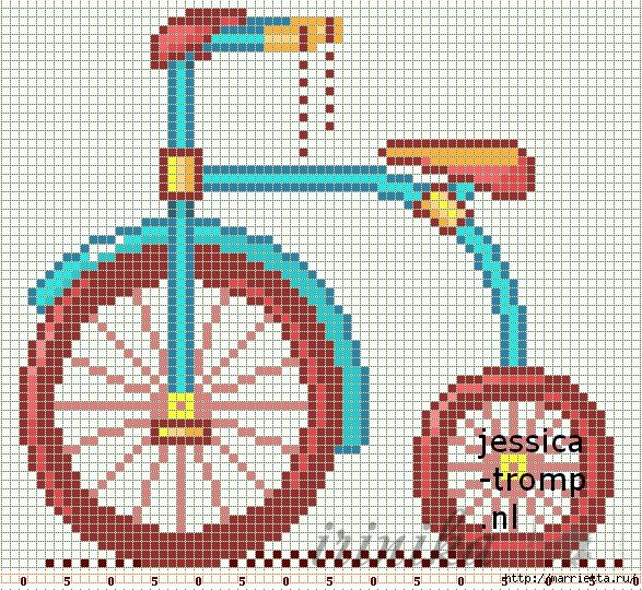 Вышиваем велосипед. Идеи со схемами (14) (587x540, 520Kb)