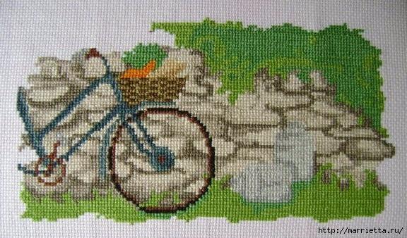 Вышиваем велосипед. Идеи со схемами (36) (576x338, 192Kb)