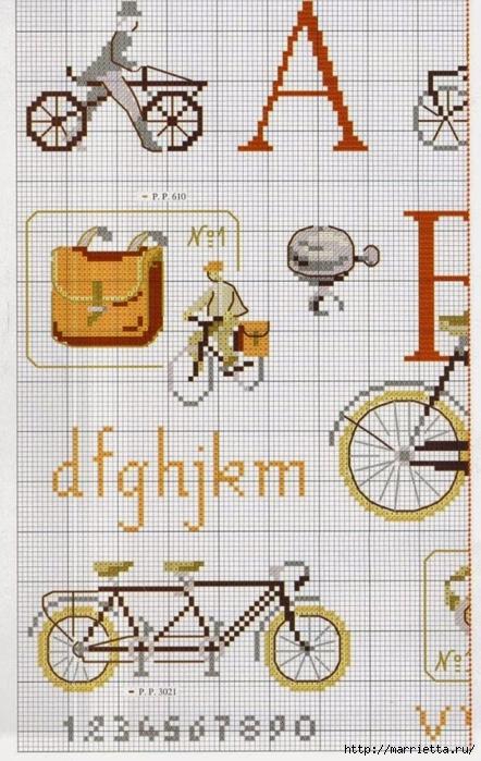 Вышиваем велосипед. Идеи со схемами (50) (442x700, 287Kb)