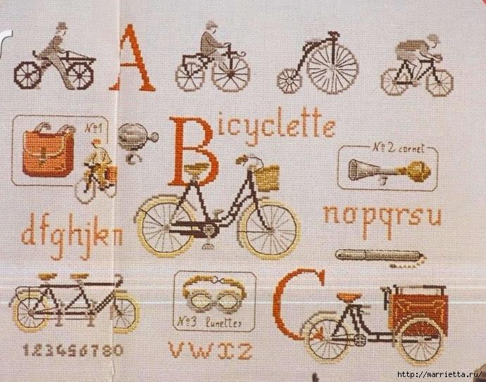 Вышиваем велосипед. Идеи со схемами (52) (690x543, 252Kb)