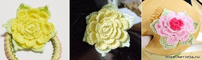 Цветок ПИОНА. Вяжем крючком (13) (700x209, 126Kb)