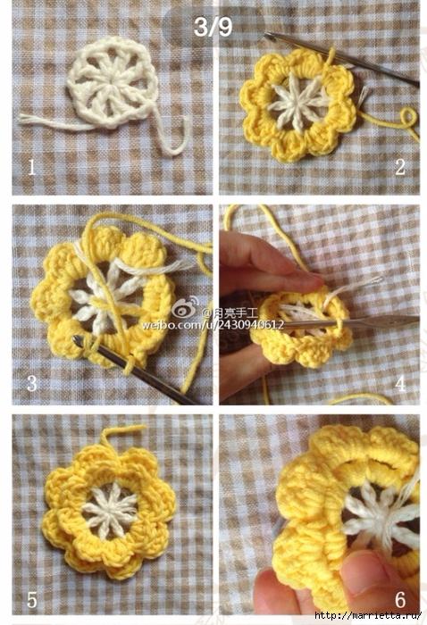 Подушка крючком из квадратов с цветами (4) (478x700, 320Kb)