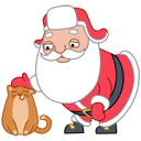 Santa Stickers/2493280_santacaticon (128x128, 19Kb)