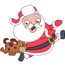 Santa Stickers/2493280_santadogicon (128x128, 18Kb)
