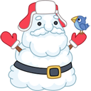 Santa Stickers/2493280_santasnowmanicon (128x128, 19Kb)