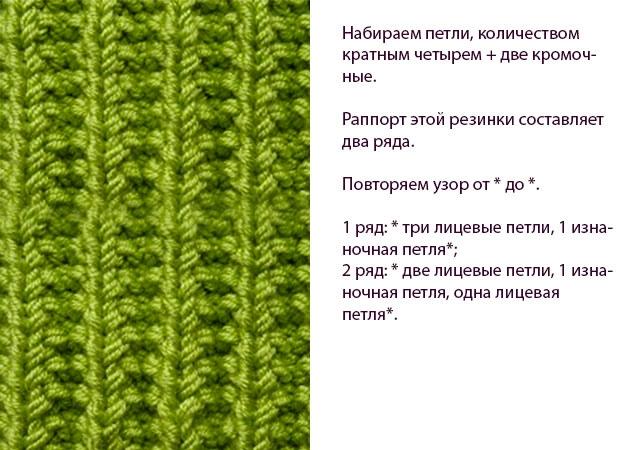 Вязание шапок английской резинкой на спицах 498