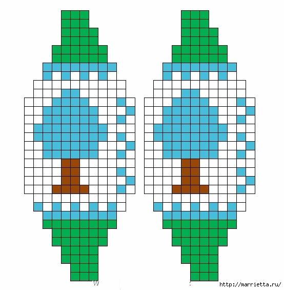 Елочные игрушки спицами. Схемы вязания (2) (554x565, 140Kb)