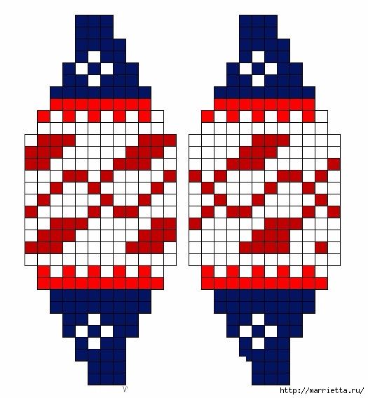 Елочные игрушки спицами. Схемы вязания (4) (525x567, 142Kb)