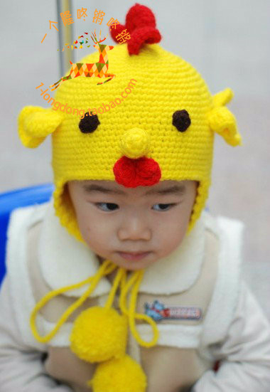 """钩针:""""公鸡""""童帽 - maomao - 我随心动"""