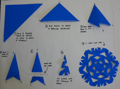 172Как сделать круглые снежинки с бумаги