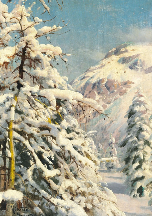 Зимний день со свежим снегом в Монтератшу (Winter day with fresh snow in Morteratsch). 1920 (490x700, 470Kb)