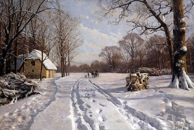 Катание на санях в зимнем пейзаже--1915_0 (656x438, 412Kb)