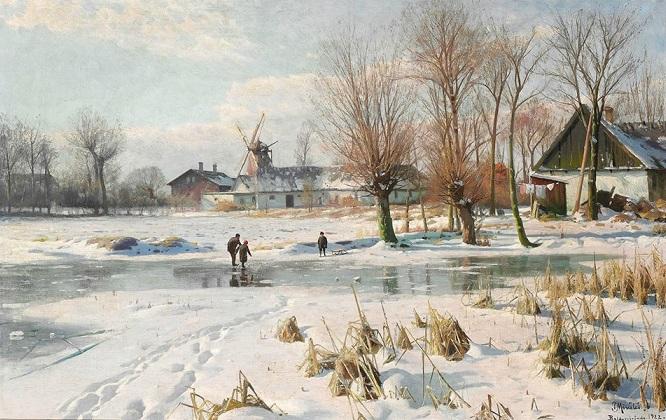 Dia de inverno em Baldersbronde. 1922 (666x420, 344Kb)