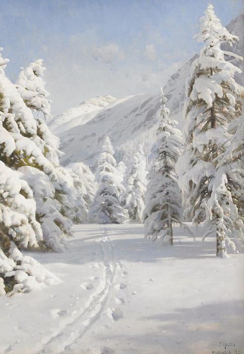 Paisagem de inverno. 1920 (481x700, 320Kb)