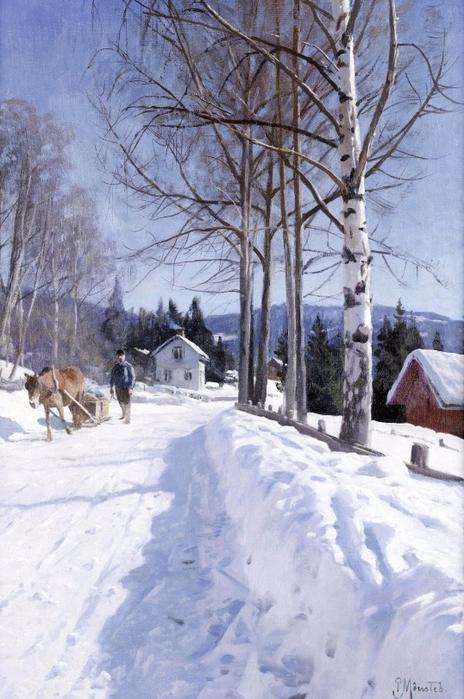 Зимний пейзаж, Odnes-Valdres--1931_0 (464x700, 366Kb)