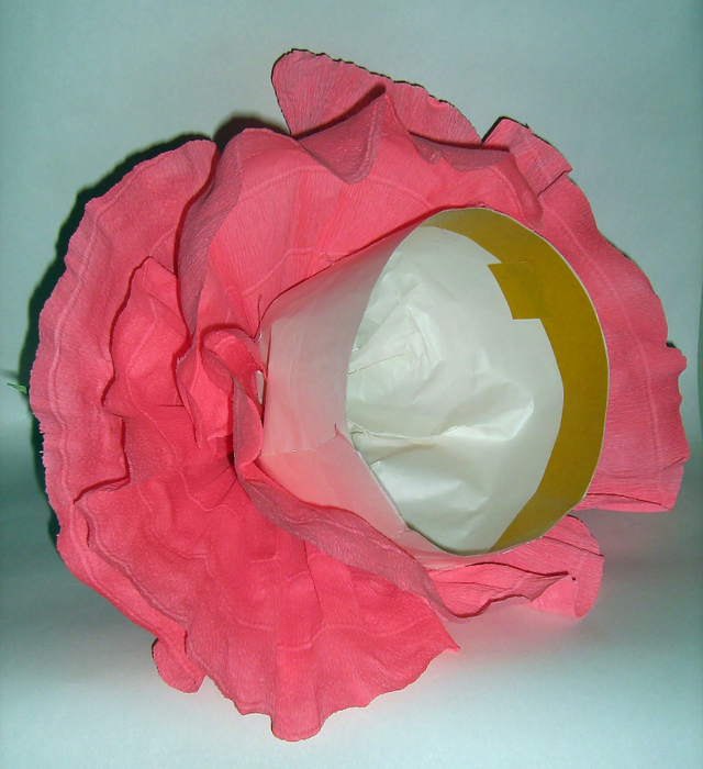 Цветок шляпа из гофрированной бумаги