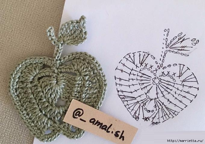 钩针:苹果,梨和秋天的树叶 - maomao - 我随心动