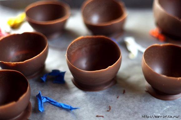 Вазочки из шоколада для сладких десертов (8) (580x386, 96Kb)