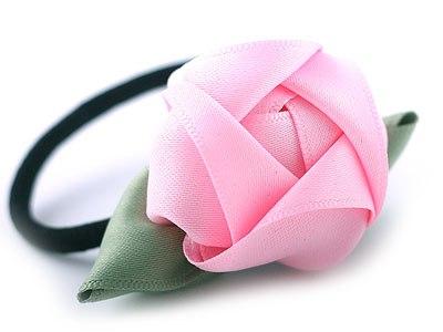 Резинка для волос с розой из атласа (6) (400x300, 73Kb)
