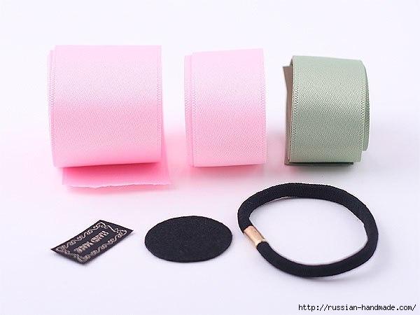 Резинка для волос с розой из атласа (8) (600x450, 90Kb)