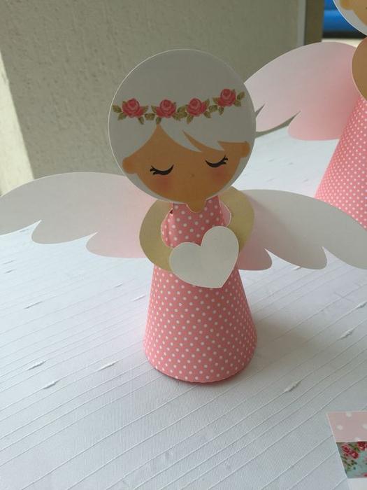 Как сделать с ангелом из бумаги своими руками