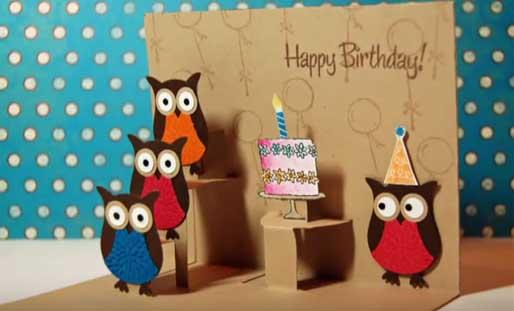 Открытки pop up своими руками на день рождения