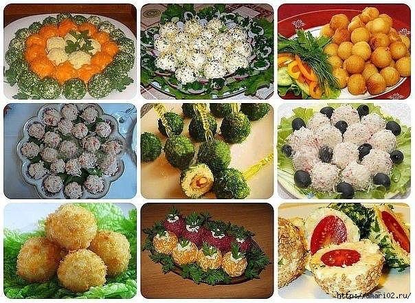 Красиво оформленные салаты с их рецептами