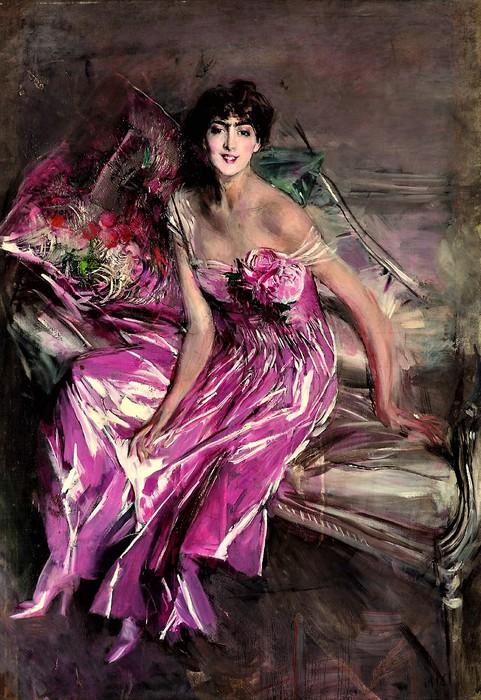Дама в розовом (Портрет Оливии де Суберказо Конча)  1916 (481x700, 132Kb)