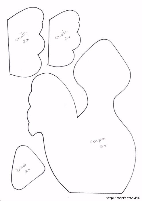 Шьем петушков и курочек. Много идей и выкроек (94) (494x699, 75Kb)