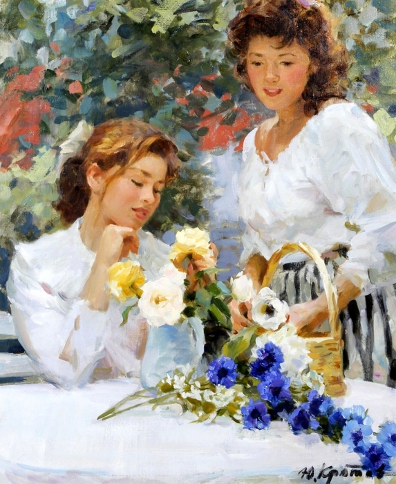 5229398_Barishni_kompanyut_vazy_s_cvetami_Young_ladies_arranging_a_vase_of_flowers_63_5_h_52_5_h_m__Chastnoe_sobranie (573x700, 337Kb)