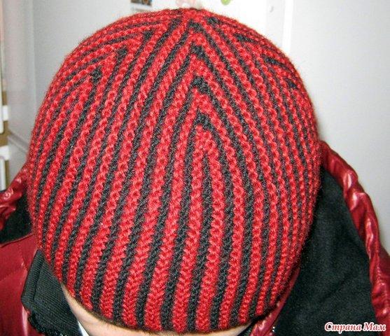 шапка-в-полоску-спицы_001 (557x480, 87Kb)