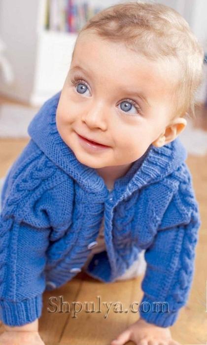 Жакет для малыша с узором из кос и ромбов, Вязание спицами для детей от 0 до 3 лет, схемы вязания для детей от года, вязание спицами от 0 с описанием, вяжем детям, вязание для малышей, схемы спицами, /5557795_1626_1 (420x700, 194Kb)
