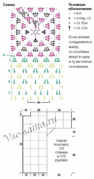 Zhaket-iz-babushkinykh-kvadratov-skhema-i-vykroika-400x764 (366x700, 184Kb)